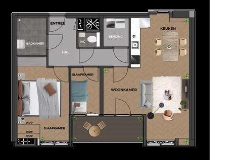 Bekijk foto 3 van 20|Centrumappartement|type F|De Smidse (Bouwnr. 20)