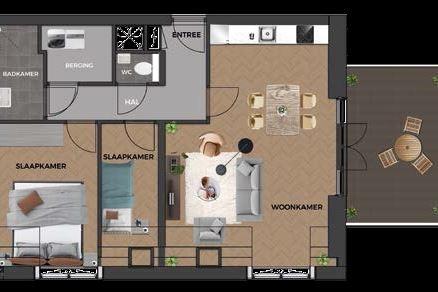 Bekijk foto 3 van 24|Centrumappartement|type G|De Smidse (Bouwnr. 24)