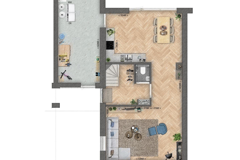 Bekijk foto 3 van twee-onder-een-kapwoningen (Bouwnr. 1)