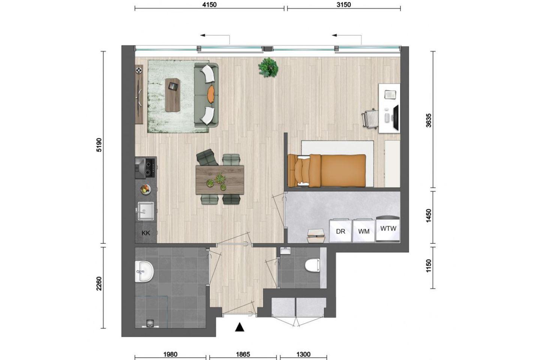 Bekijk foto 2 van Appartement (Bouwnr. 5)
