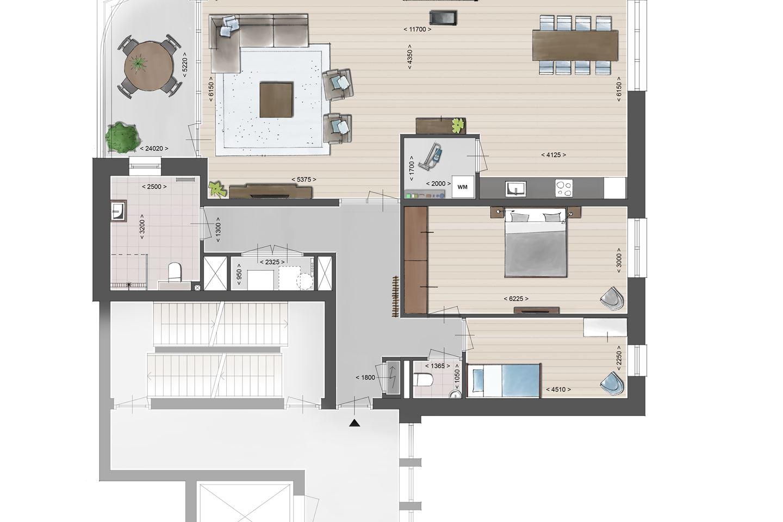 Bekijk foto 4 van Luxe appartement aan de IJssel (Bouwnr. 2.01)