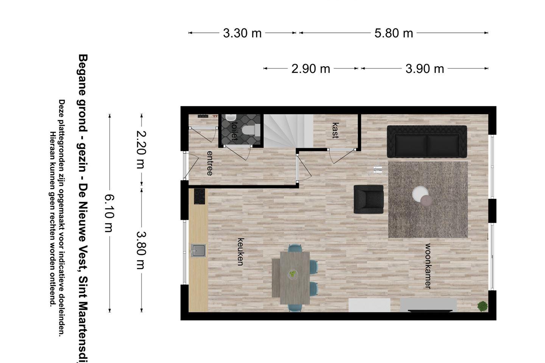 Bekijk foto 4 van De Nieuwe Vest tussenwoning (Bouwnr. 2)
