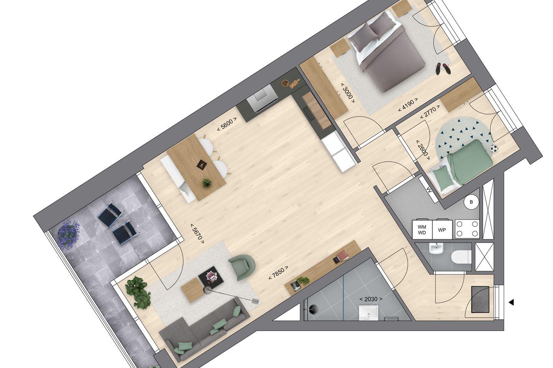 Bekijk foto 5 van Appartementen Type A (Bouwnr. 221)