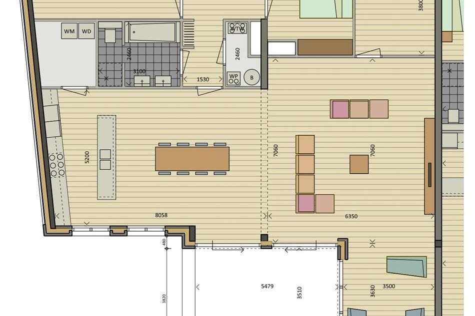 Bekijk foto 3 van 13 - Penthouse - 2e verdieping