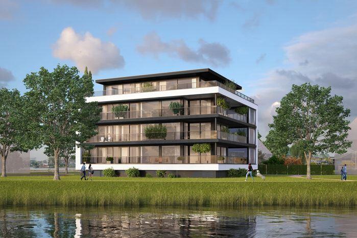 Bekijk foto 1 van Waterzicht / 3 Luxe appartementen 131 m2