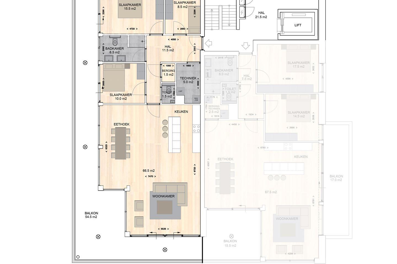 Bekijk foto 6 van Waterzicht / 3 Luxe appartementen 131 m2
