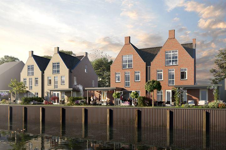Noorddijk, 4 halfvrijstaande watervilla's met garage aan de Haven