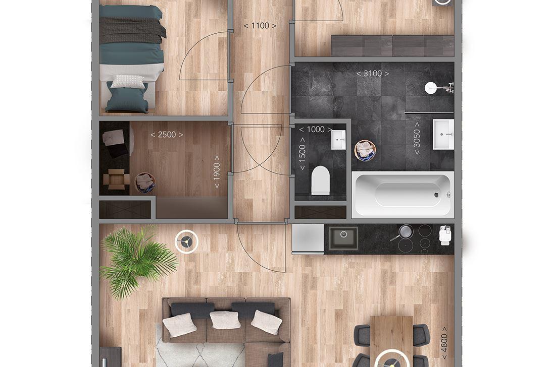 Bekijk foto 5 van Appartementen B Type (Bouwnr. 9)