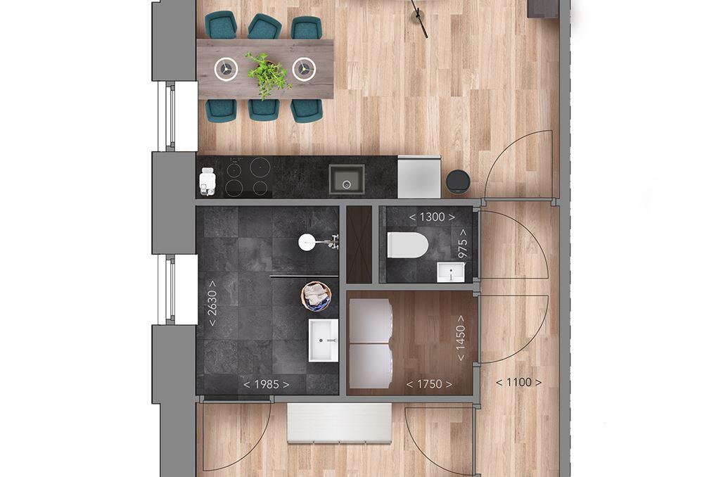 Bekijk foto 5 van Appartementen G Type (Bouwnr. 13)
