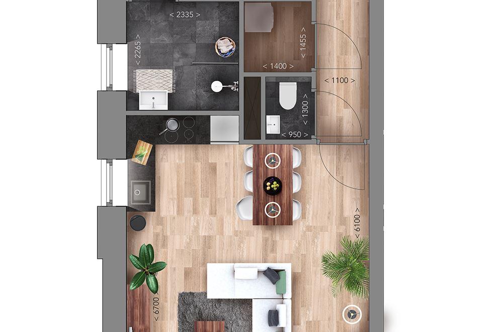 View photo 5 of Appartementen H type (Bouwnr. 7)