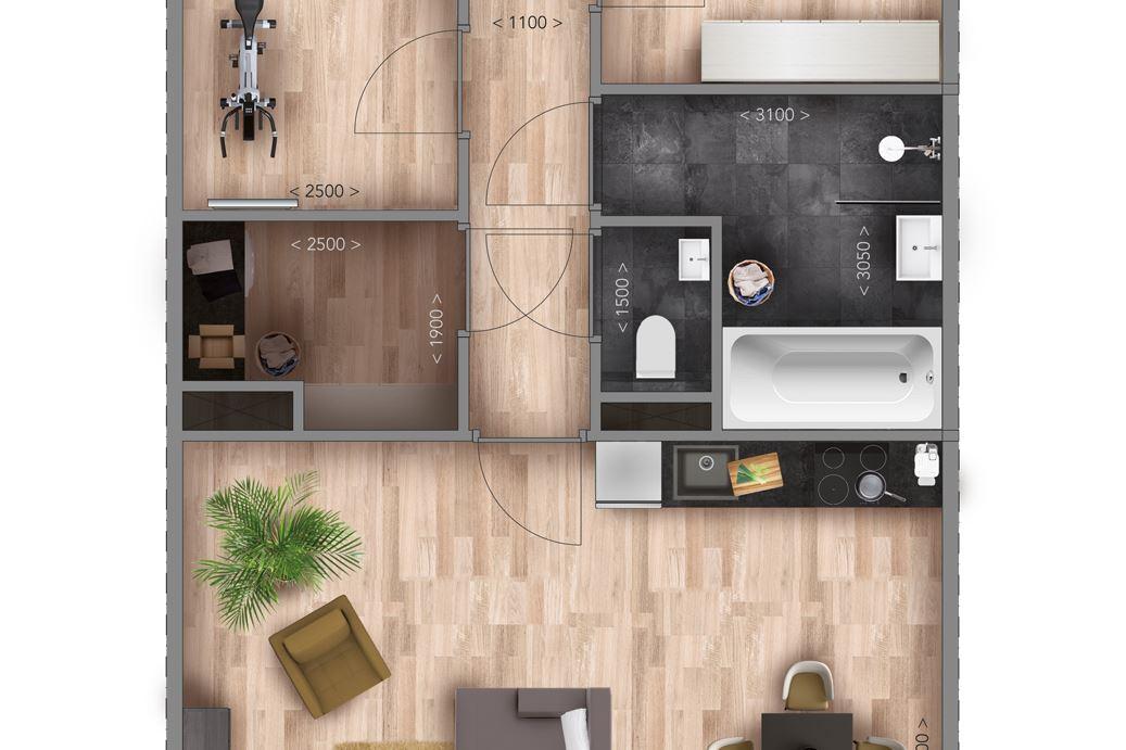 Bekijk foto 5 van Appartementen C Type (Bouwnr. 10)