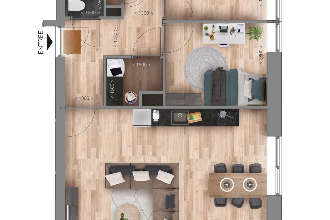 Bekijk foto 5 van Appartementen D Type (Bouwnr. 18)