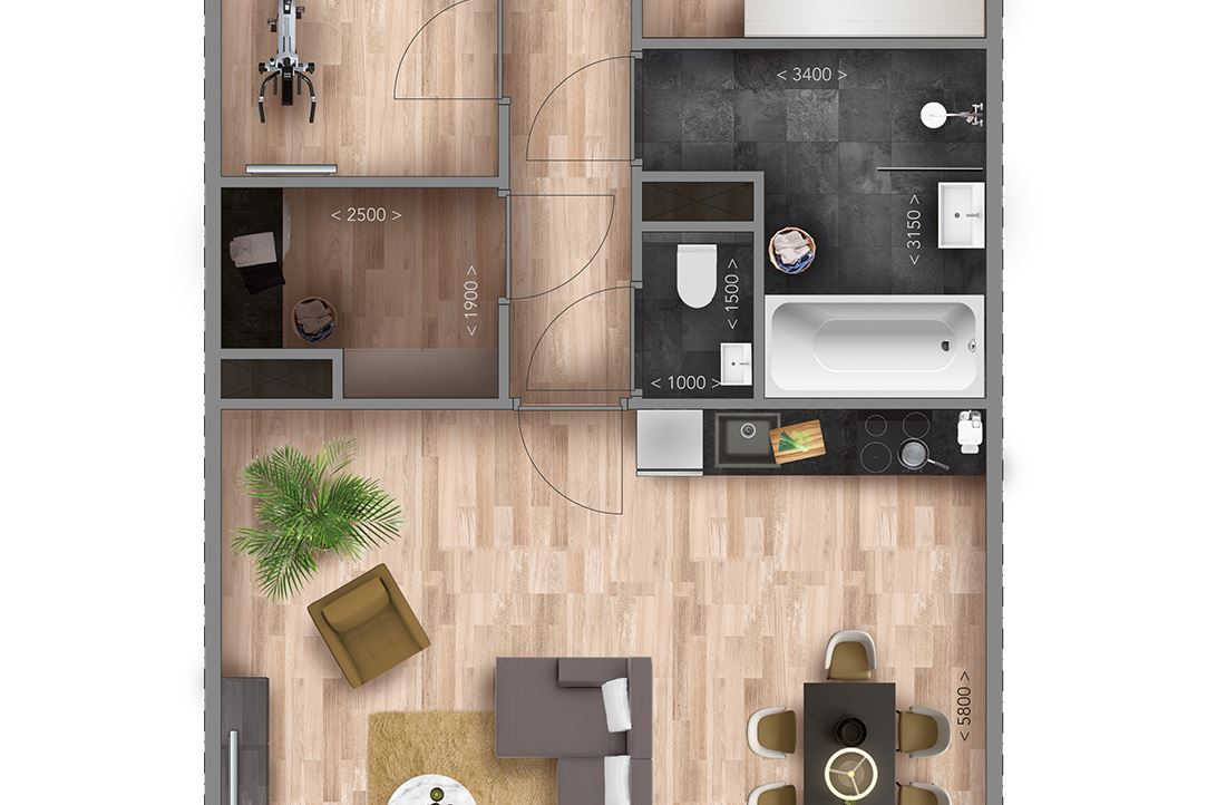 View photo 5 of Appartementen K type (Bouwnr. 15)