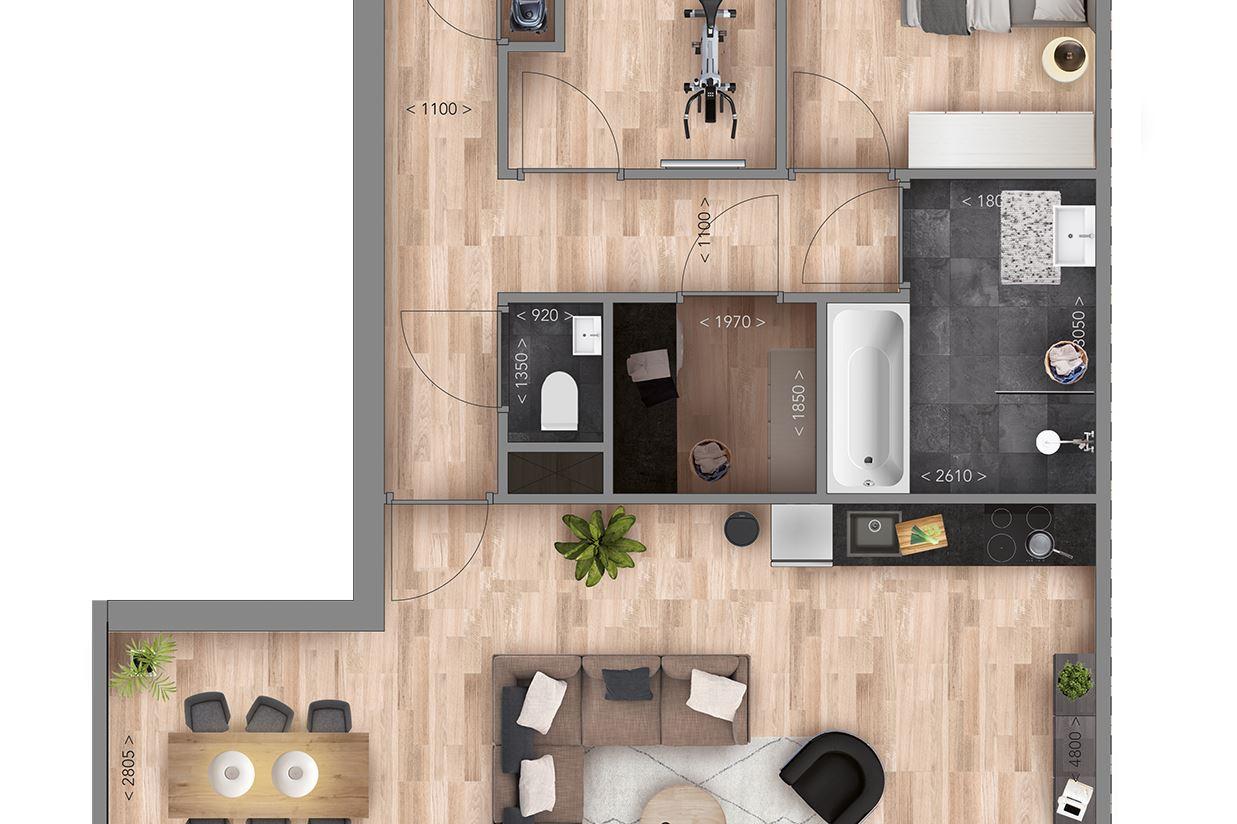 Bekijk foto 5 van Appartementen E Type (Bouwnr. 5)