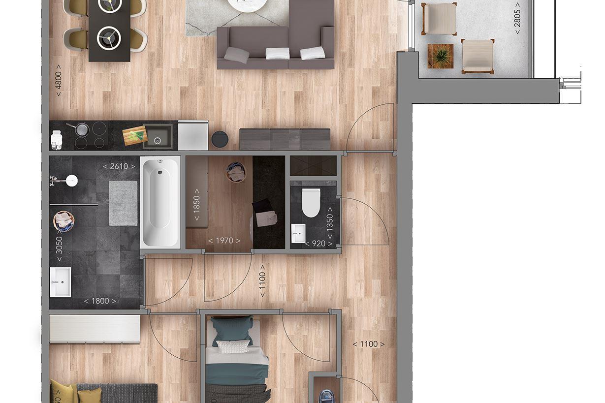 Bekijk foto 5 van Appartementen F type (Bouwnr. 12)