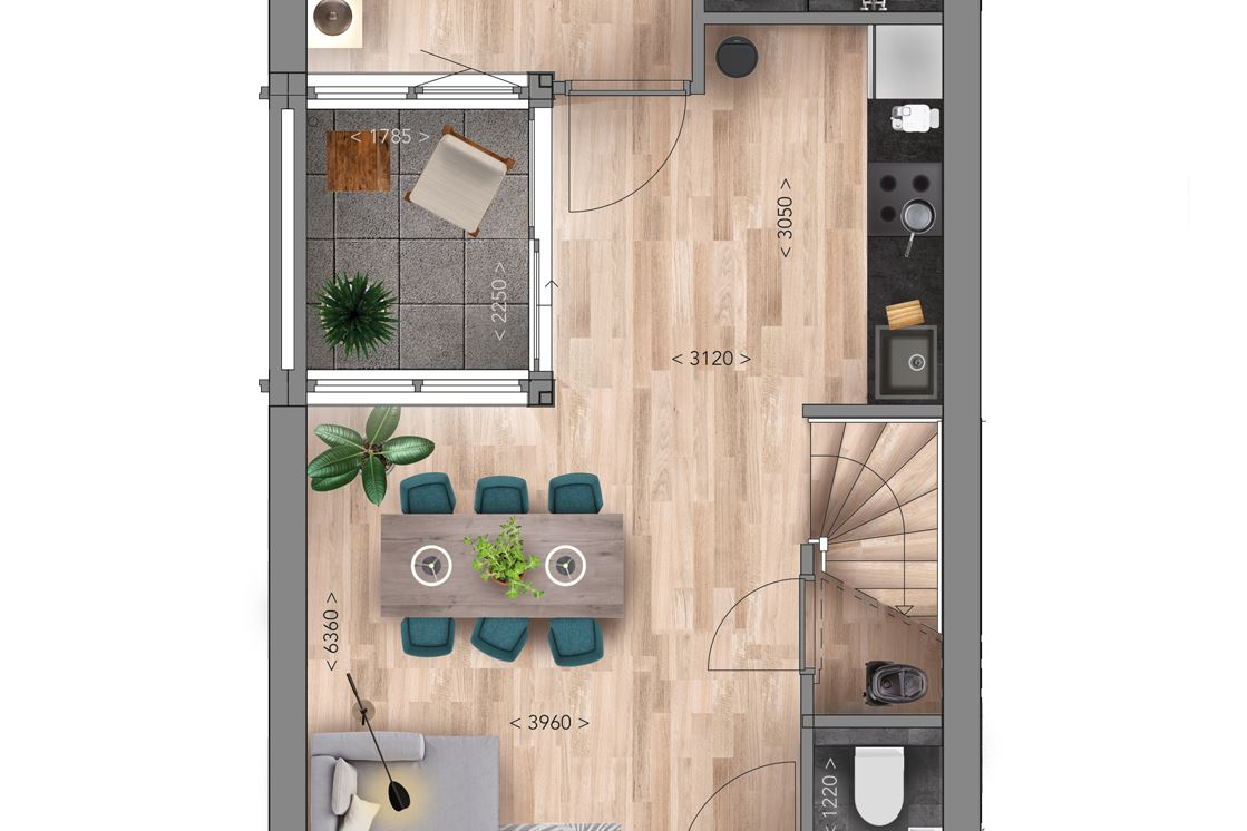 View photo 4 of Patiowoning A Type (Bouwnr. 8)