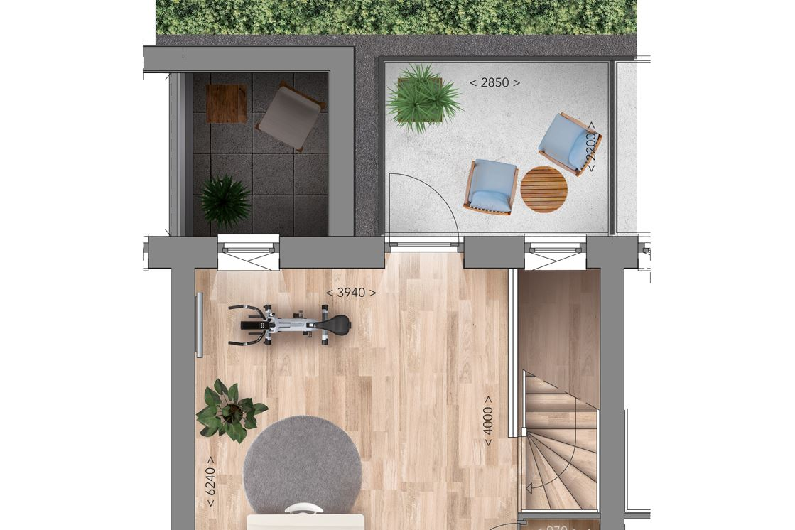 View photo 5 of Patiowoning A Type (Bouwnr. 6)