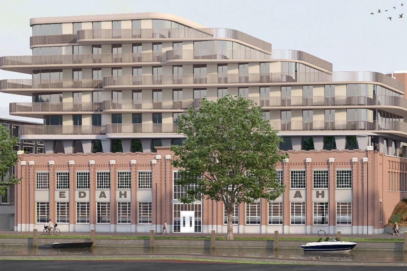 Bekijk foto 1 van E.06   Hoekappartement   E2   Oranjekade (Bouwnr. 6)