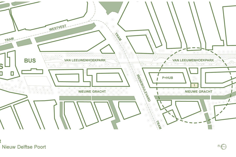Bekijk foto 2 van Nieuw Delftse Poort, begane grond studio B