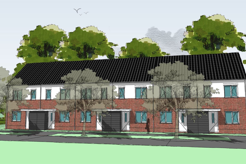 Bekijk foto 1 van Kotterstraat hoekwoningen (Bouwnr. 1)