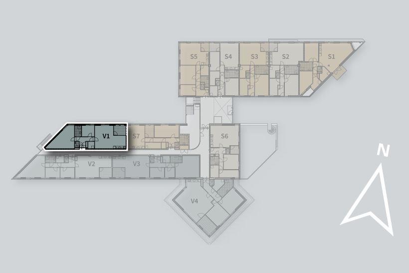 Bekijk foto 3 van Appartement V1 (Bouwnr. 1)
