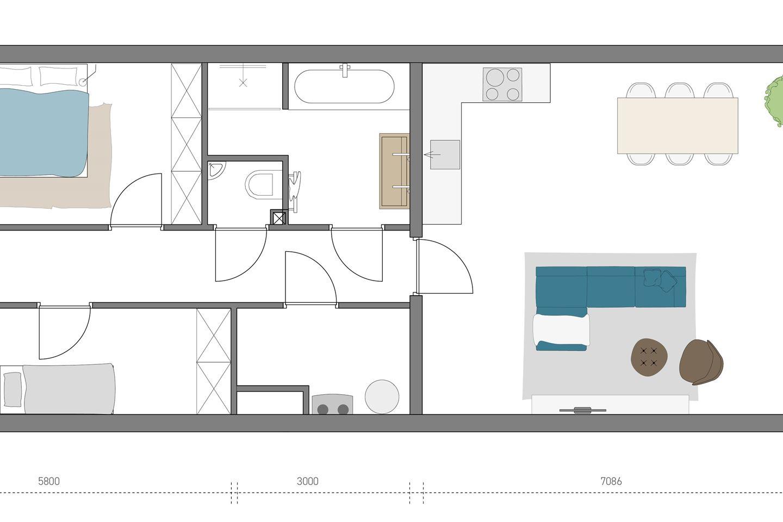 Bekijk foto 4 van 1e, 2e en 3e verdieping (Bouwnr. 7)