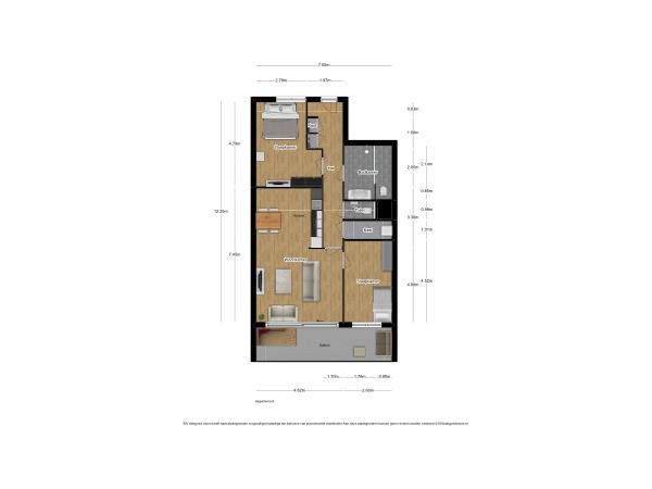 Appartement sfeervol