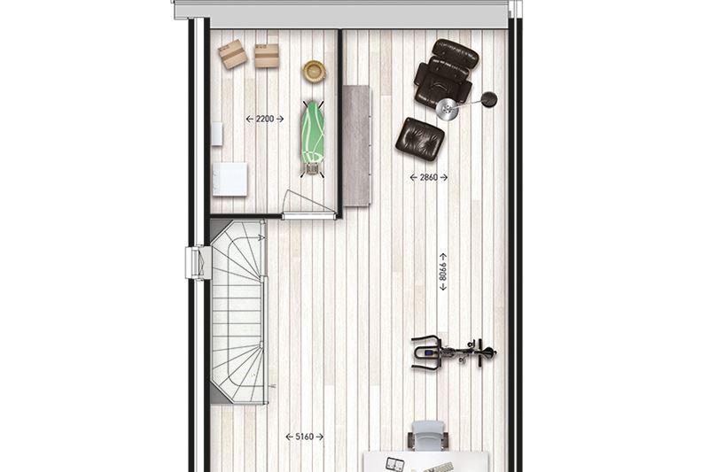 Bekijk foto 5 van Levensloopbestendige; bungalow - Type F (Bouwnr. 12)