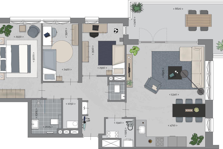 Bekijk foto 3 van Quatrebras Park Quartier II - appartementen (Bouwnr. 10)