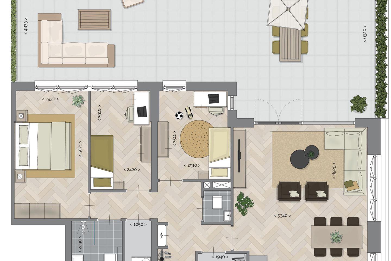 Bekijk foto 2 van Quatrebras Park Quartier II - appartementen (Bouwnr. 7)