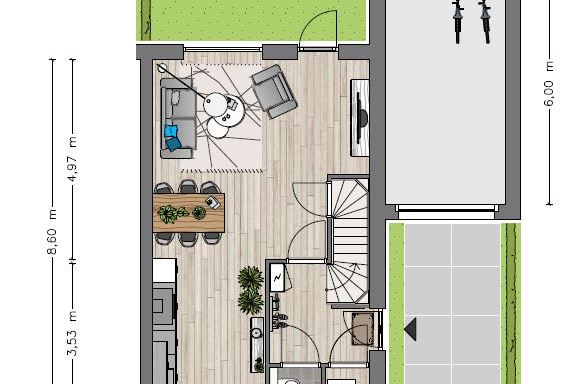 Bekijk foto 2 van Type D1 hoekwoning (Bouwnr. 2)