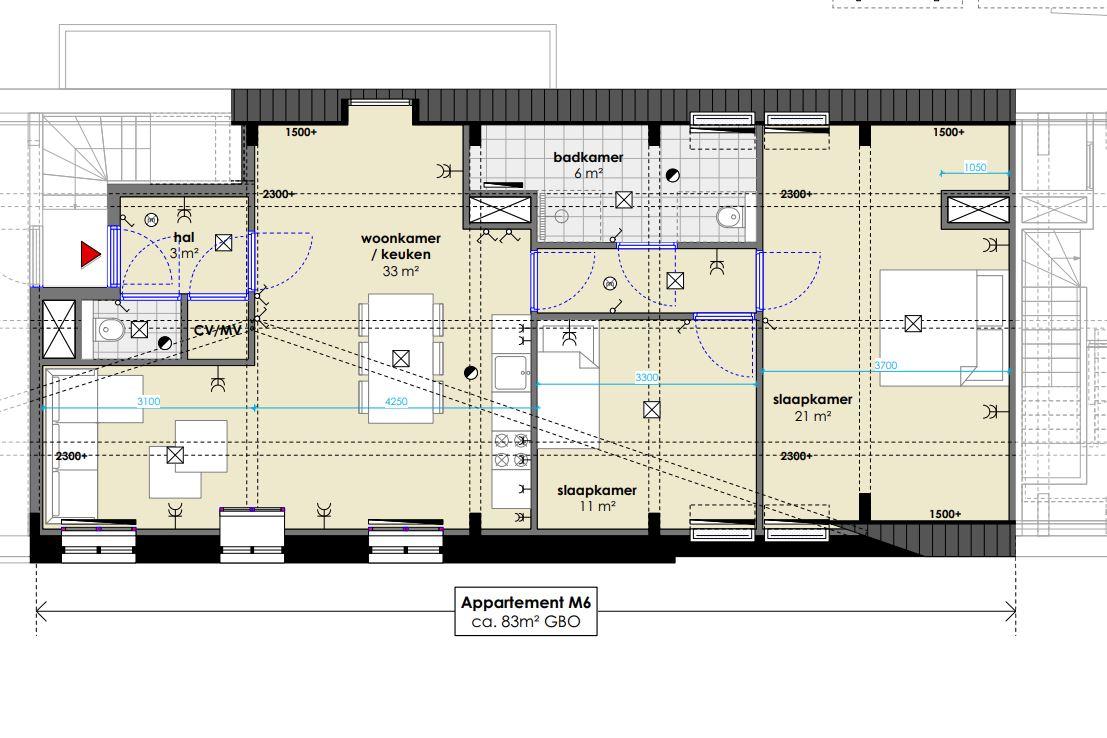 Bekijk foto 5 van Muziekschool appartementen (Bouwnr. 6)