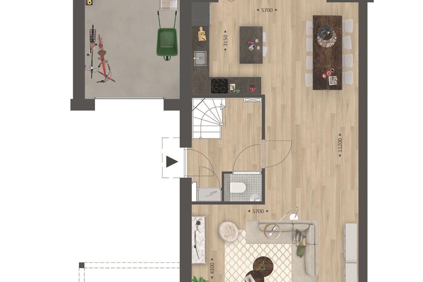 Bekijk foto 5 van Type N | Twee-onder-een-kap woning (Bouwnr. 8)