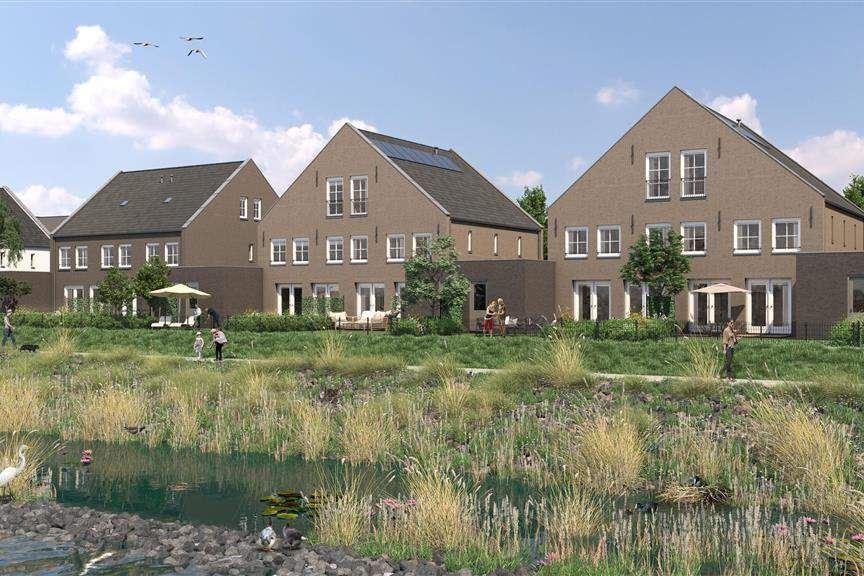 Bekijk foto 1 van Riederwerf Nieuwe Maas- en dijkwoningen (Bouwnr. 100)
