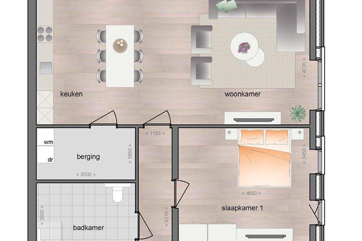 1e verdieping appartement met balkon (Bouwnr. 11)