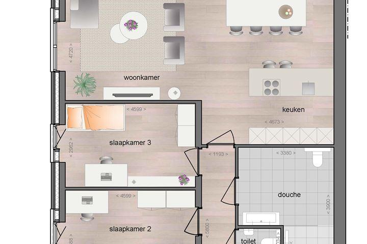 1e verdieping appartement met balkon (Bouwnr. 9)
