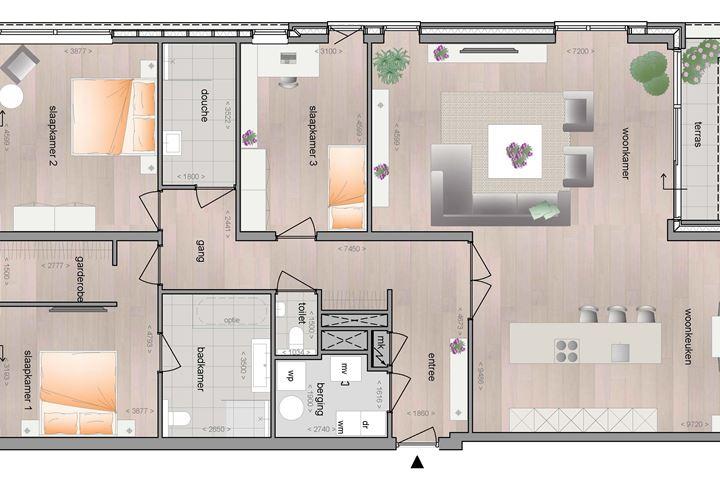 Tweede verdieping Penthouse (Bouwnr. 14)