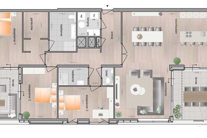 Tweede verdieping Penthouse (Bouwnr. 16)