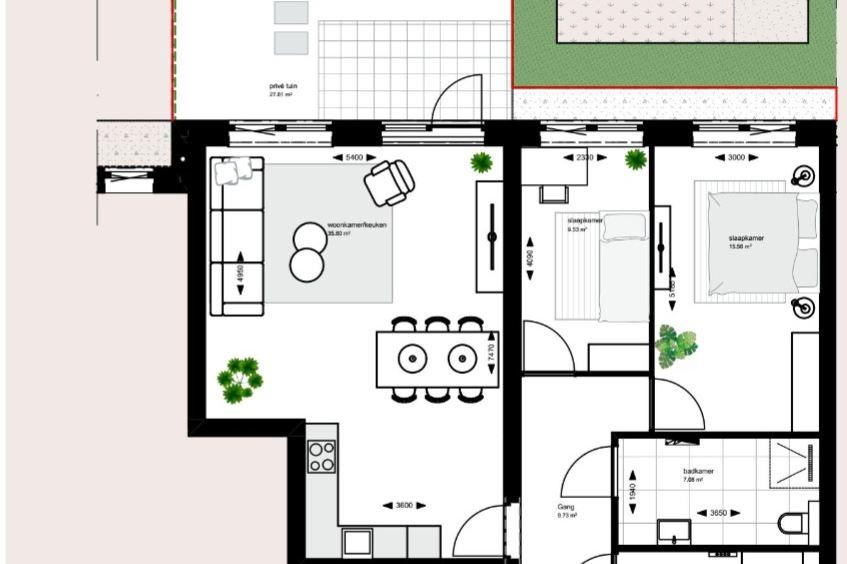 Bekijk foto 3 van Tussenappartement begane grond (Bouwnr. 2)
