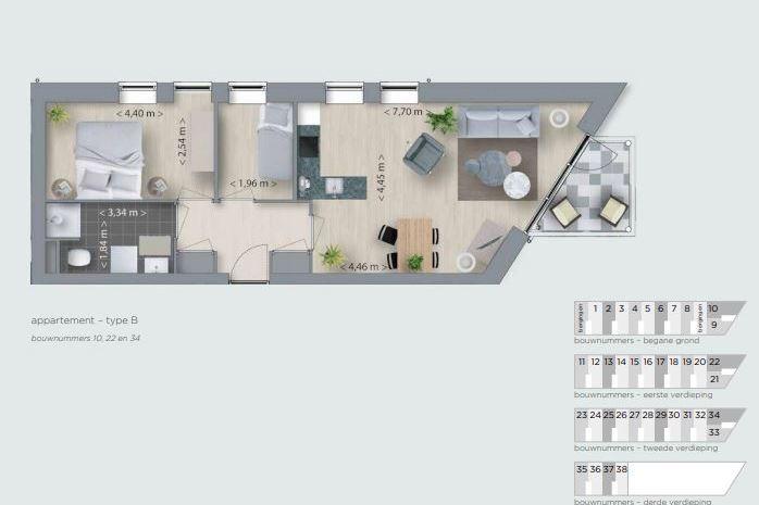 Bekijk foto 4 van Korianderhof appartement
