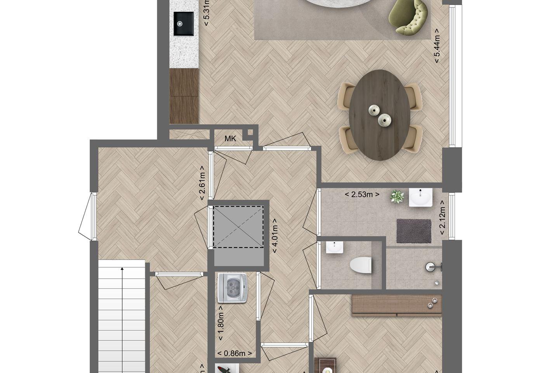 Bekijk foto 2 van Appartement 4 verdieping (Bouwnr. 4)