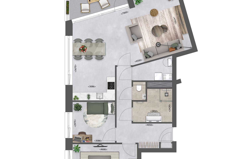 Bekijk foto 4 van Zeeuwse Morgen/ Appartement A5 bwnr. 15